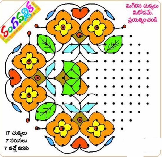 sakranthi chakkala designs with dots