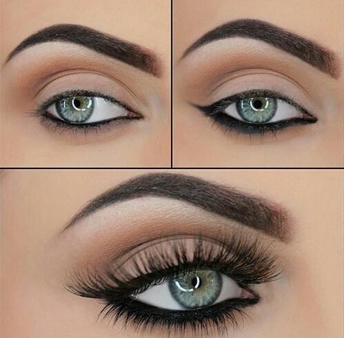 simple elegent eye make up