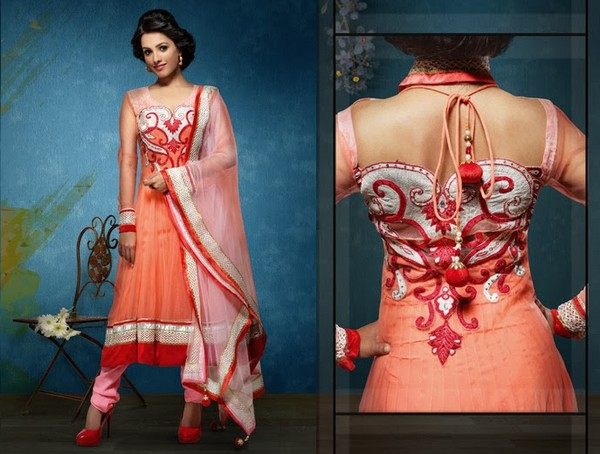 long anarkali suit neck designs
