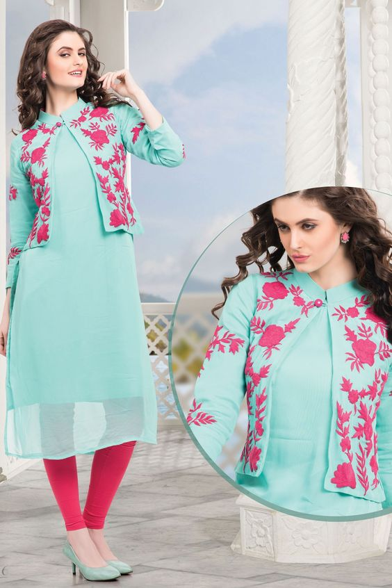 kurta design with jacket