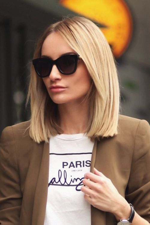 blunt short bob haircut