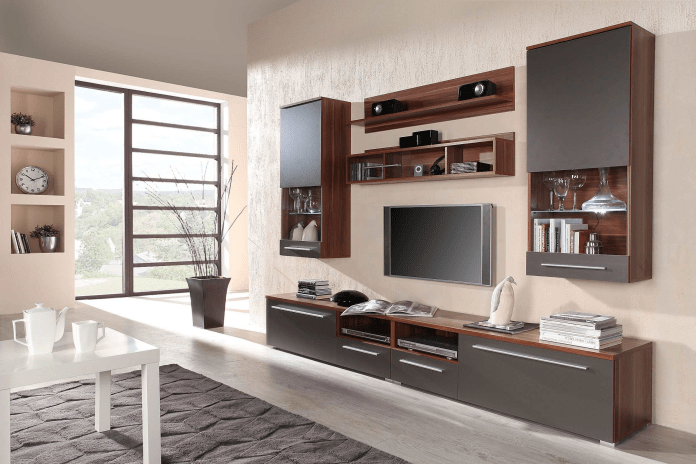 decor-ideas-unique-black-chair-and-ottoman-with-black-drum-also-models-modern-wall-unit-furniture-picture-modern-entertainment wall unit