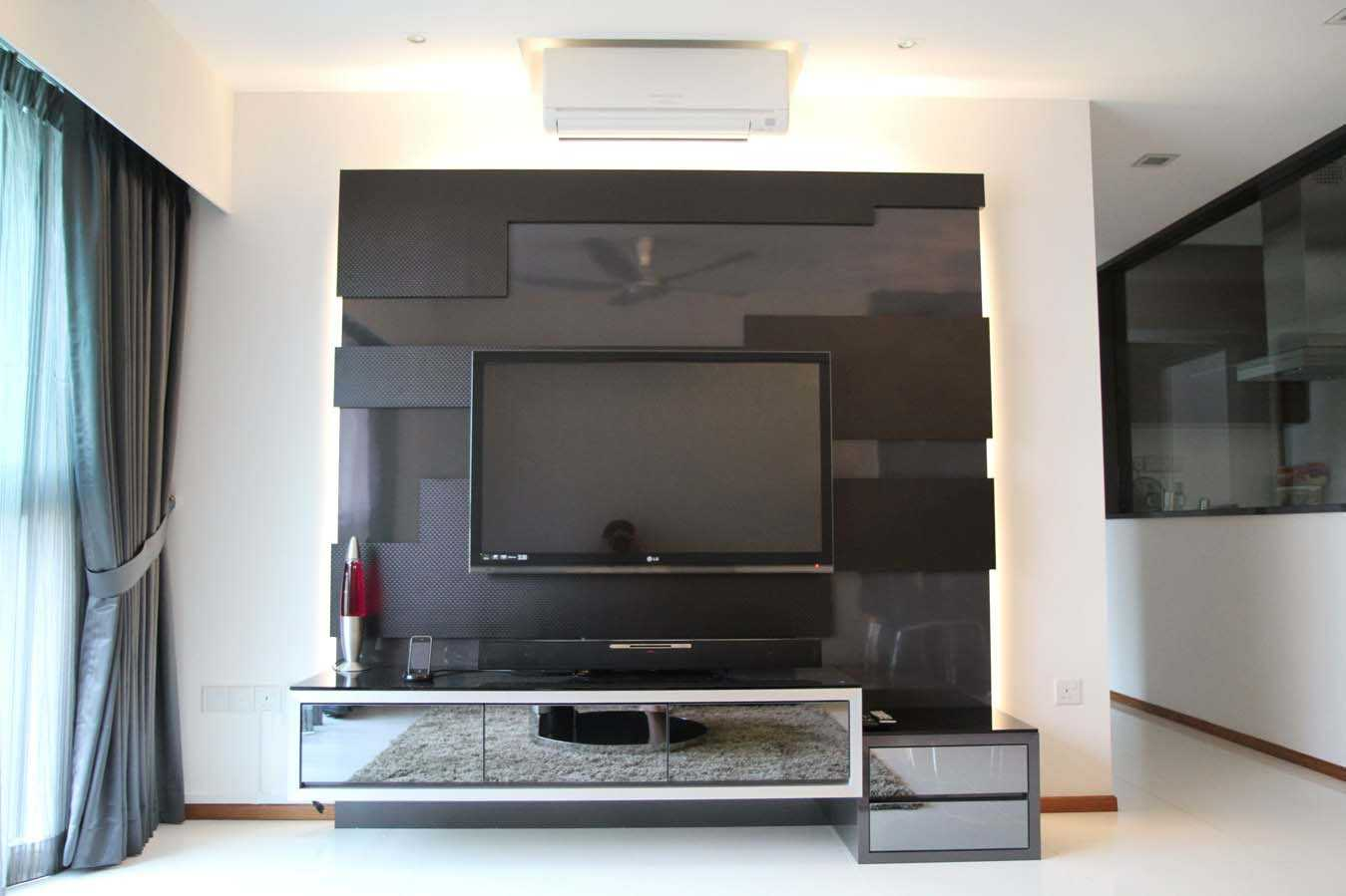 20 modern tv unit design ideas for bedroom living room for Lcd wall unit designs for hall