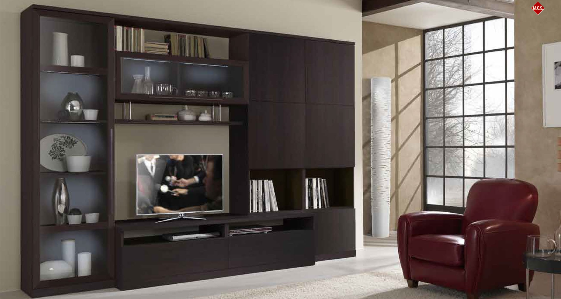 20 Modern TV Unit Design Ideas For Bedroom & Living Room ... on Living Room Wall Units id=67669