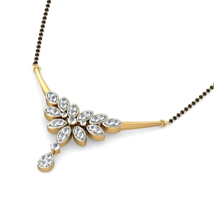 new gold mangalsutra design