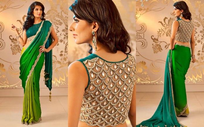 latest-embellished-saree-blouse-designs-for-girls-designer-saree-blouse
