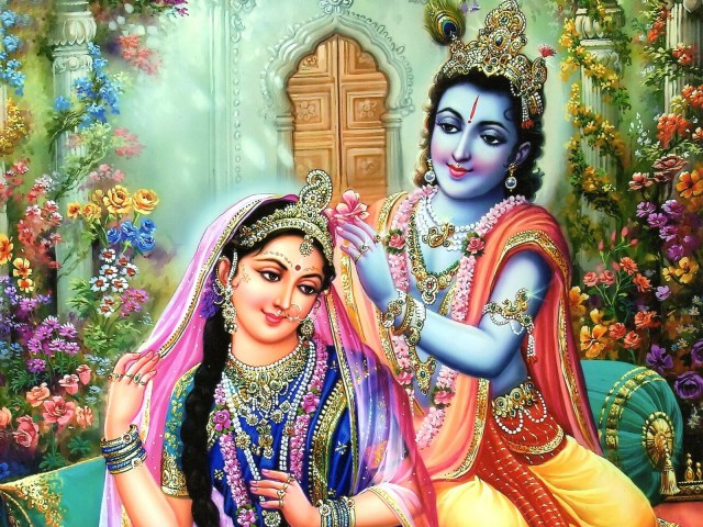 Gopal Krishna With Radha Desktop HD Wallpapers