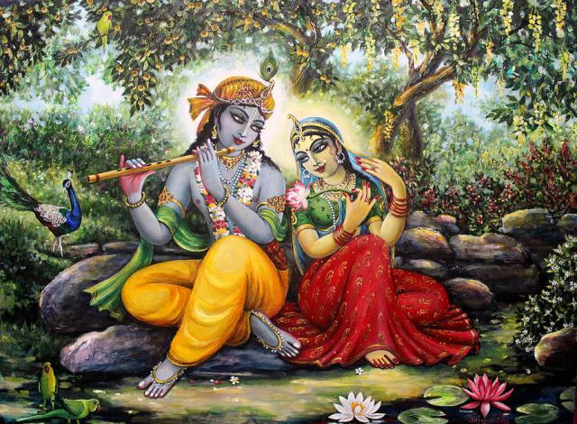 Hindu Bhagwaan Shree Krishna With Radha HD Wallpapers