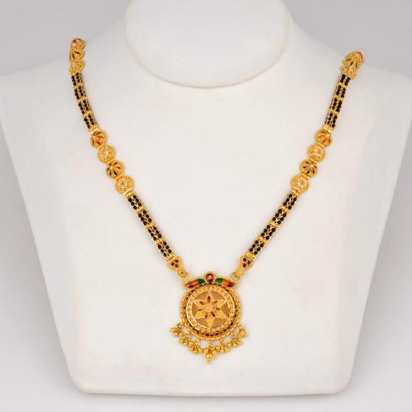 gold mangalsutera design