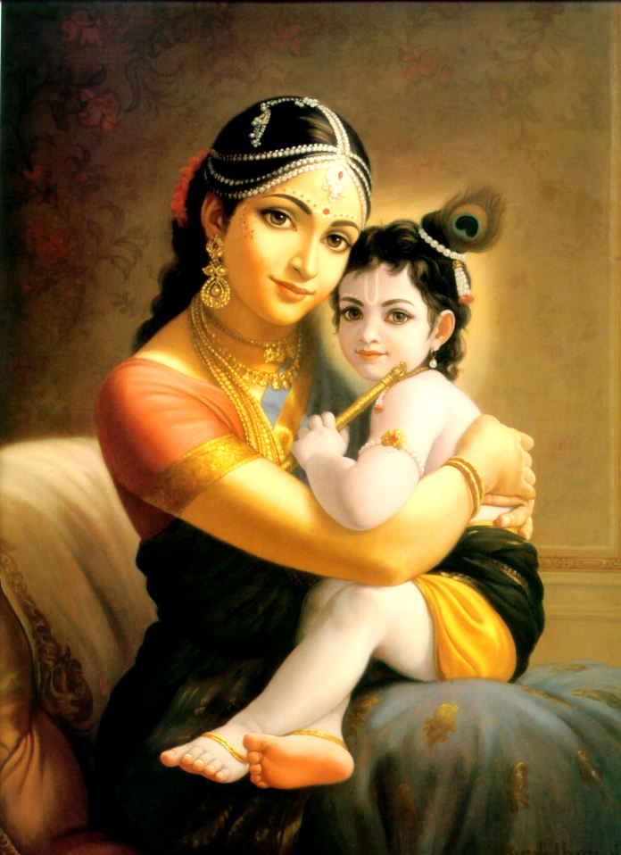 lord krishna images with maa yashoda