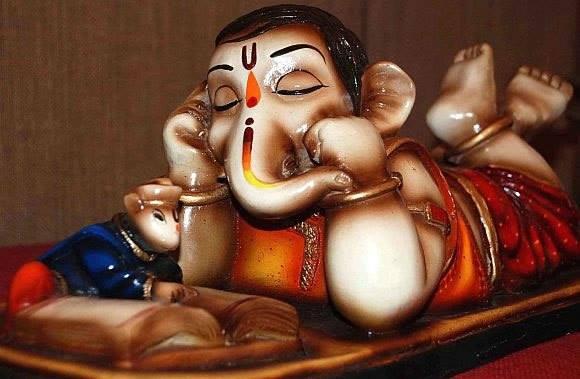 god ganesha sleeping images