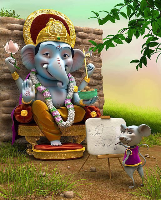 good ganesha playing images
