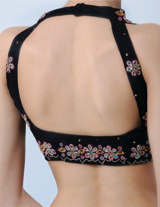 back blouse net design