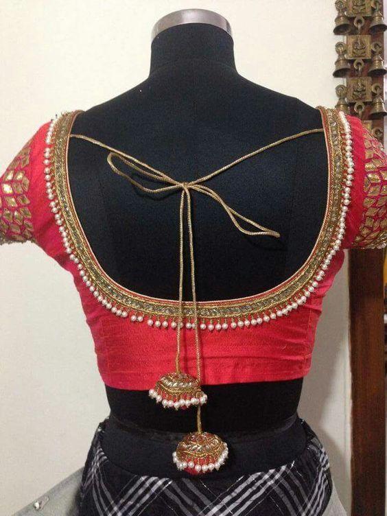 trendy blouse neck design