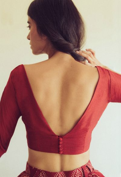 blouse design backside