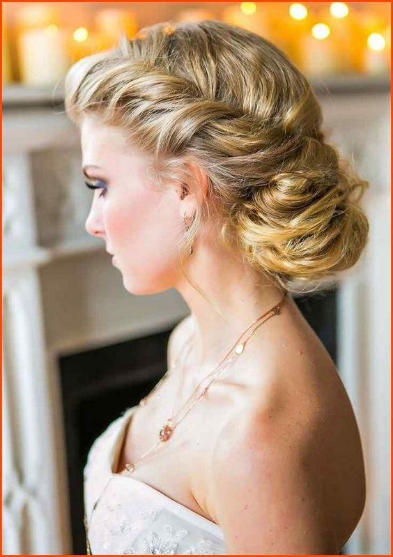 wedding hairstyle for round face women