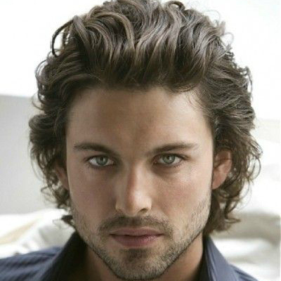 men's wavy hairstyle short hair