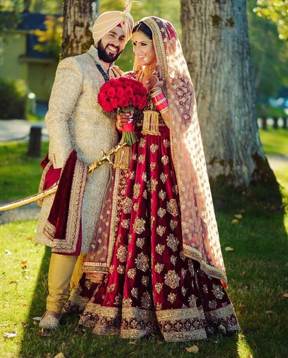 dulhan lehanga for punjabi bride