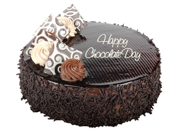 Happy Chocolate Day Cake Images