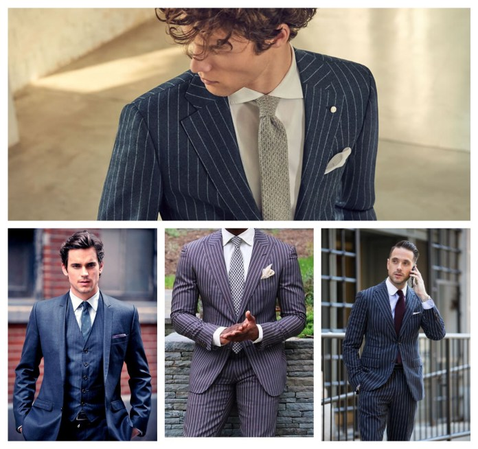 Pinstripe Suits For Groom