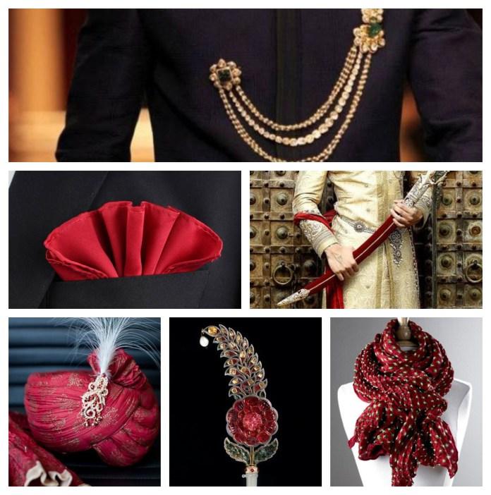 Accessories With Wedding Sherwani