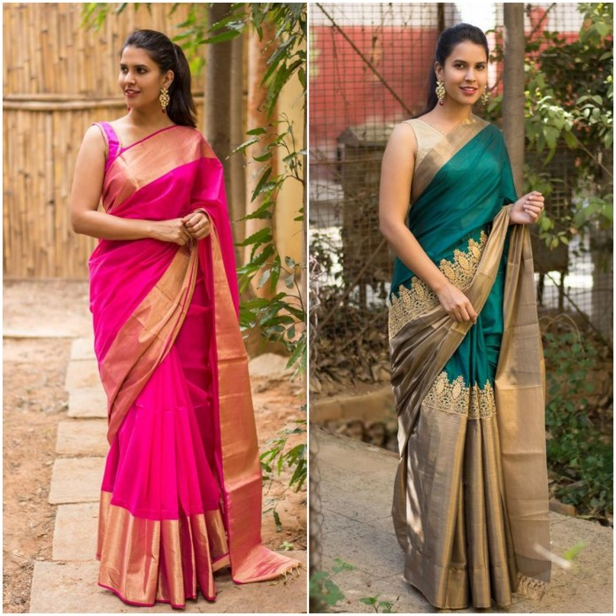 Plain Kanchipuram Silk Saree