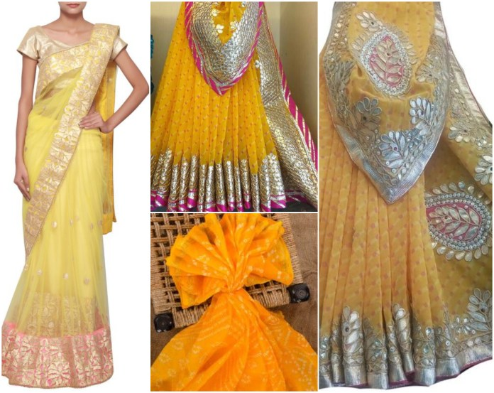Rajasthani yellow Saree