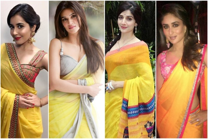Yellow Saree For Party