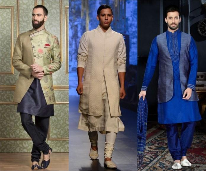 Long Designer Jackets With Kurta Pajama
