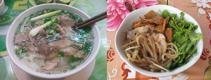 A phở and a cao lầu