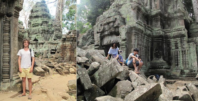 People on ruins at Ta Prohm