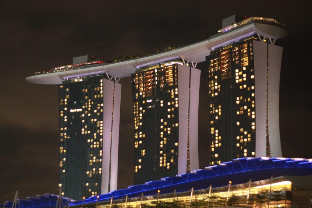 The Marina Bay Sands at night
