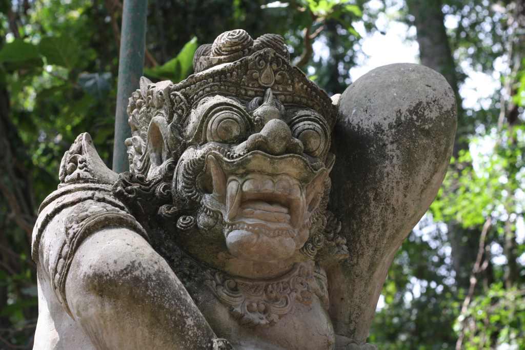 Statue at Ubud Monkey Forest