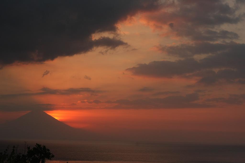 View of Mt Agung from Gili Trawangan