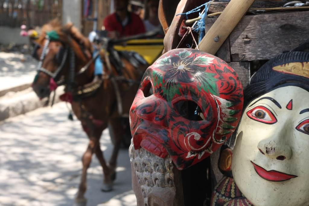 Indonesian folk masks