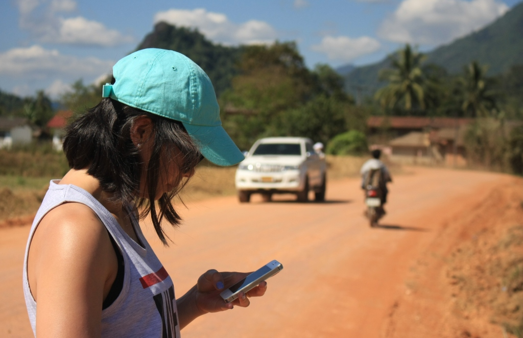 A road in Laos