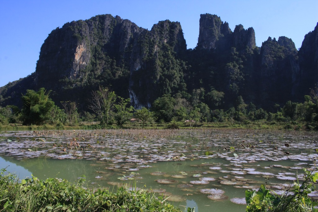 A lake in Laos