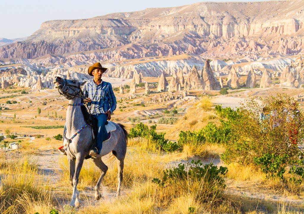 Cappadocia man riding horse