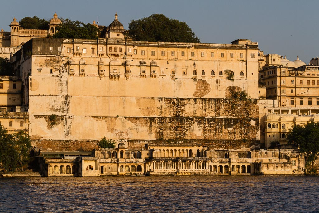 The palace in Udaipur