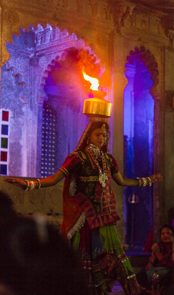 Rajasthan fire dancer