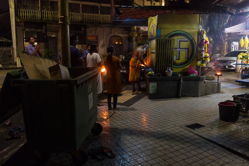 A Hindu shrine