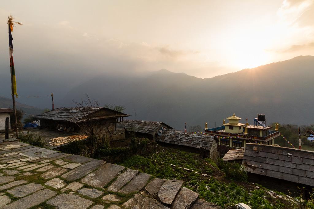 The last sunrise at Ghandruk