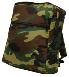 Personalized Green Camo Kids Backpack
