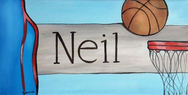 Basketball Door Plaque