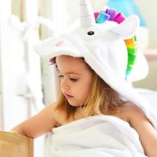 personalized hooded towel - unicorn