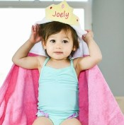 personalized hooded towel - princess