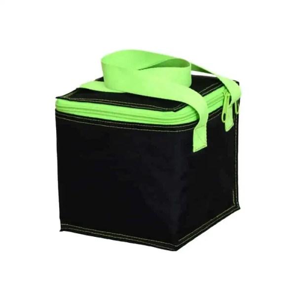 Personalized Kids Bag - Snack Square - Black Neon