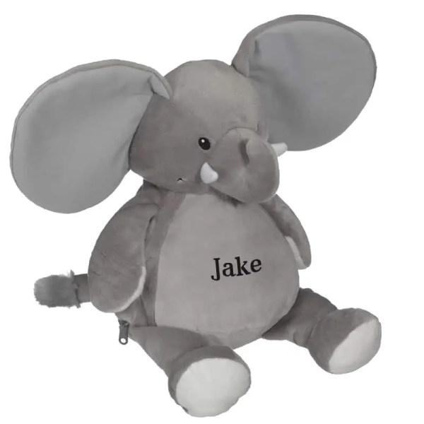 Personalized Stuffed Animal - Grey Elephant
