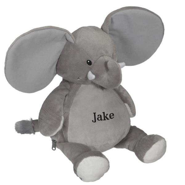 Personalized Stuffed Animal - Grey Elephant