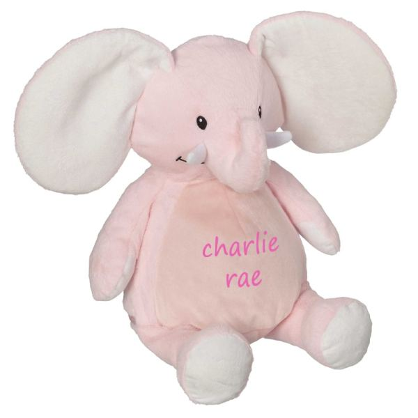 Personalized Stuffed Animal - Pink Elephant
